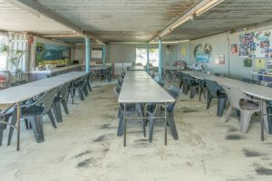 Under cover dining area