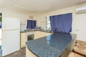 Kitchen facilities in our Clairview bungalow