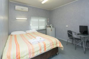 Comfortable bedding in our bungalows