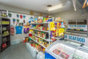 Stock up on essentials at BarraCrab Caravan Park's store