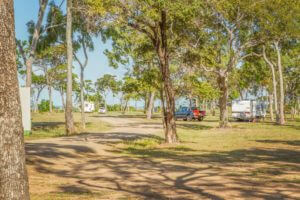 Spacious, shady caravan sites